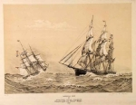 Western Ocean Packets Dreadnought and Daniel Webster, 1853. American Ships VI.