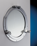 Porthole Mirror Chrome 8""