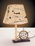 Foresti & Suardi Ship's Wheel Clock Lamp