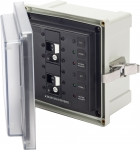 SMS Surface Mount System Panel Enclosure - 2 x 120V AC / 30A ELCI Main