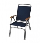 THE ORIGINAL EEz-In HIGH BACK DECK CHAIR - ANODIZED ALUMINUM FRAME