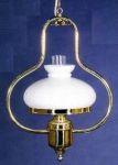 Harnisch Lamp - Lyre Lamp w/Opal Shade - Electric