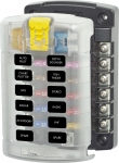 ST Blade Fuse Block - 12 Circuits with Cover