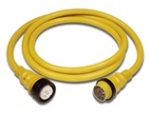 50 Amp 125/250 Volt Power Cord Plus Cordset (4-Wire) with LED - 50 ft Yellow