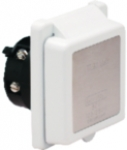 50 Amp/125V Power Easy Lock Inlet with Stainless Steel Trim without Rear Safety Enclosure