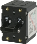 A-Series Black Toggle Circuit Breaker - Double Pole