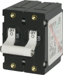A-Series White Toggle Circuit Breaker - Double Pole