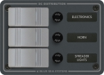 3 Position - DC Fuse Panel - Slate Gray