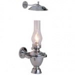 Weems & Plath Chrome Atlantic Gimbal Lamp w/Smoke Bell