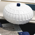 "Dock Wheel Corner Mount - 9"" - White"