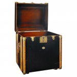 Stateroom Trunk End Table, Black