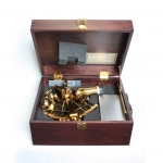 Tamaya Golden Sextant with 4x40 Scope in Wooden Case