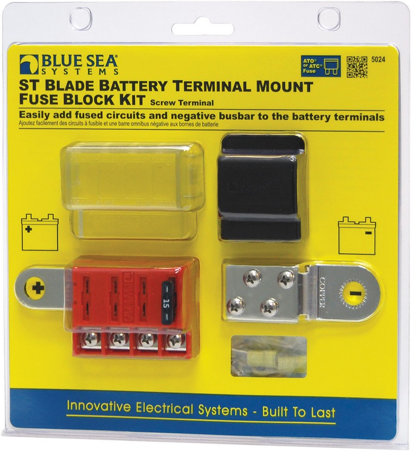 Blue Fuse Box St Blade Battery Terminal Mount Block Kit