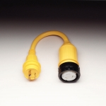 Pigtail Adapter with a 50A 125V Locking w/ Sealing Collar System Female Connector and a 30A 125V Locking Male Plug