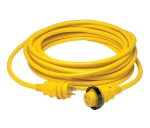 30 Amp Power Cord Plus Cordset with LED - 25 ft Yellow
