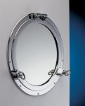 Porthole Mirror Chrome 12""