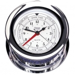 Weems & Plath Chrome Plated Atlantis Time & Tide Clock