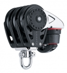 Triple Swivel Block with Cam Cleat - 57mm