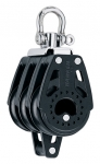 Triple Swivel Block with Becket - 40mm