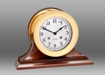 "Chelsea 6"" Shipstrike Clock in Brass on Traditional Base"