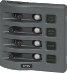 WeatherDeck® 12V DC Waterproof Circuit Breaker Panel - Gray