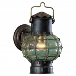 DHR Antique Copper Globe Lamp - Wall Mounted Electric