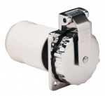 50 Amp/125V Stainless Steel Power Inlet with Rear Safety Enclosure