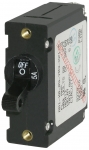 A-Series Black Toggle Circuit Breaker - Single Pole
