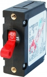 A-Series Red Toggle Circuit Breaker - Single Pole