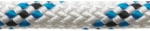 Marlowbraid 12mm White with Blue Fleck - Per Foot